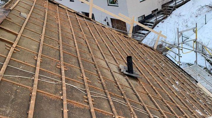 Rivning av takpannor